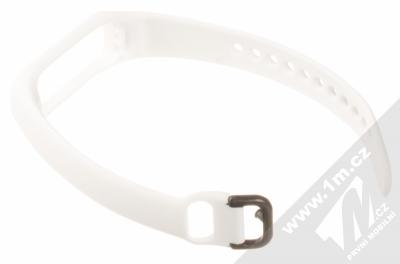 Tactical Single Color Strap silikonový pásek na zápěstí pro Samsung Galaxy Fit e bílá (white) rozepnuté zezadu