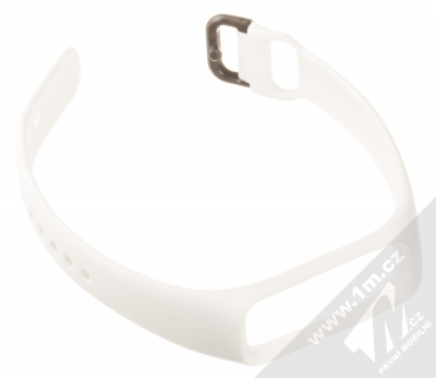 Tactical Single Color Strap silikonový pásek na zápěstí pro Samsung Galaxy Fit e bílá (white) rozepnuté