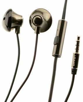 USAMS Ejoy sluchátka s mikrofonem a ovladačem šedá (dark gray)