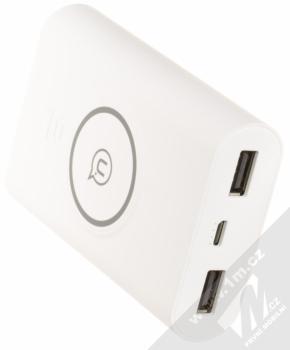 USAMS Wish Wireless Charger Power Bank záložní zdroj s bezdrátovým nabíjením 8000mAh bílá (white) konektory