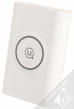 USAMS Wish Wireless Charger Power Bank záložní zdroj s bezdrátovým nabíjením 8000mAh bílá (white)