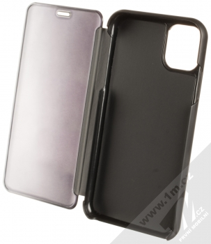 Vennus Clear View flipové pouzdro pro Apple iPhone 11 černá (black) otevřené