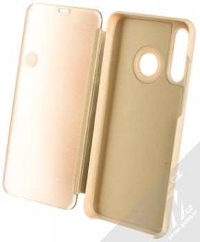 Vennus Clear View flipové pouzdro pro Huawei P30 Lite zlatá (gold) otevřené