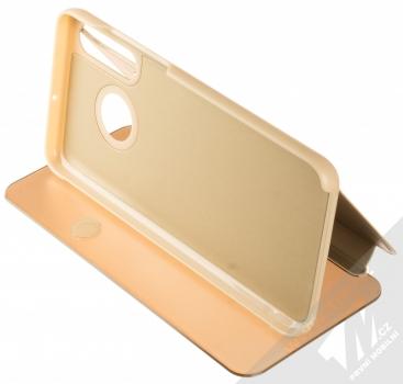 Vennus Clear View flipové pouzdro pro Huawei P30 Lite zlatá (gold) stojánek