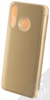 Vennus Clear View flipové pouzdro pro Huawei P30 Lite zlatá (gold) zezadu