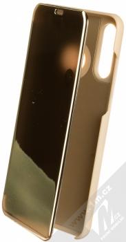 Vennus Clear View flipové pouzdro pro Huawei P30 Lite zlatá (gold)