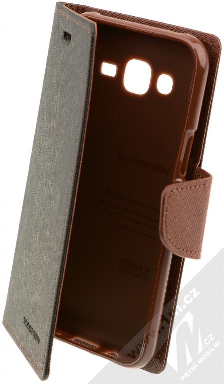Goospery Fancy Diary flipové pouzdro pro Samsung Galaxy J5 černo hnědá  (black   brown) 48bddbd34dc