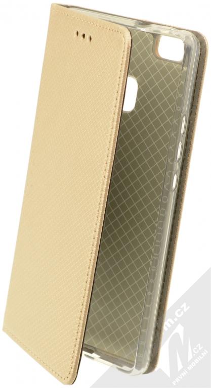 Sligo Smart Magnet flipové pouzdro pro Huawei P9 Lite zlatá (gold ... f9bdc0b4156