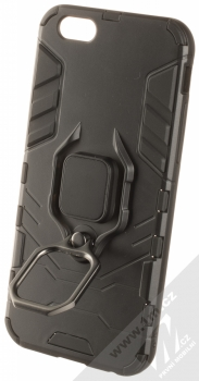 1Mcz Armor Ring odolný ochranný kryt s držákem na prst pro Apple iPhone 6, iPhone 6S černá (black) držák