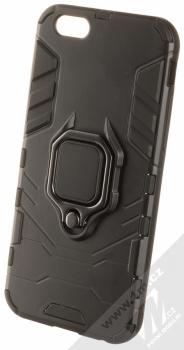 1Mcz Armor Ring odolný ochranný kryt s držákem na prst pro Apple iPhone 6, iPhone 6S černá (black)