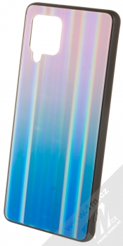 1Mcz Aurora Glass Cover ochranný kryt pro Samsung Galaxy A42 5G měnivě růžová modrá (iridescent pink blu