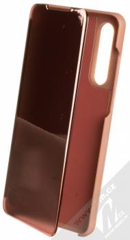 1Mcz Clear View flipové pouzdro pro Huawei P30 růžová (pink)