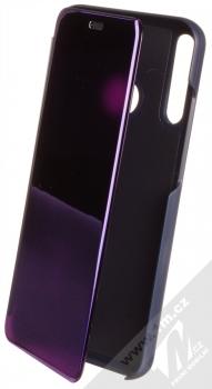 1Mcz Clear View flipové pouzdro pro Huawei P40 Lite E fialová (purple)