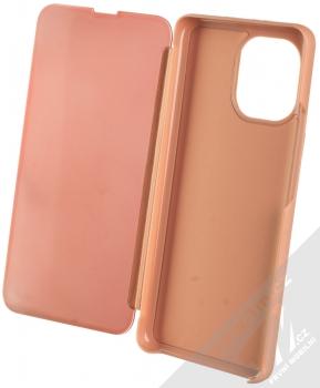 1Mcz Clear View flipové pouzdro pro Xiaomi Mi 11 růžová (pink) otevřené