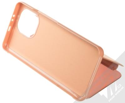 1Mcz Clear View flipové pouzdro pro Xiaomi Mi 11 růžová (pink) stojánek
