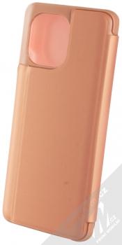 1Mcz Clear View flipové pouzdro pro Xiaomi Mi 11 růžová (pink) zezadu