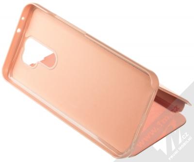 1Mcz Clear View flipové pouzdro pro Xiaomi Redmi 9 růžová (pink) stojánek