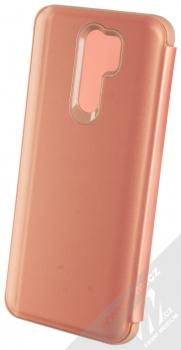 1Mcz Clear View flipové pouzdro pro Xiaomi Redmi 9 růžová (pink) zezadu