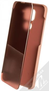 1Mcz Clear View flipové pouzdro pro Xiaomi Redmi Note 9 růžová (pink)