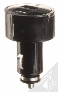 1Mcz Dual Car Charger nabíječka do auta s 2xUSB výstupem a USB kabel s USB Type-C konektorem prodloužené délky černá bílá (black white) nabíječka