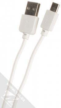 1Mcz Dual Car Charger nabíječka do auta s 2xUSB výstupem a USB kabel s USB Type-C konektorem prodloužené délky černá bílá (black white) USB kabel konektory