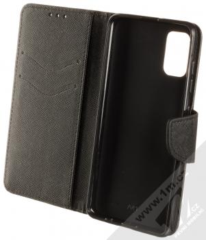 1Mcz Fancy Book flipové pouzdro pro Samsung Galaxy A41 černá (black) otevřené