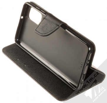 1Mcz Fancy Book flipové pouzdro pro Samsung Galaxy A41 černá (black) stojánek