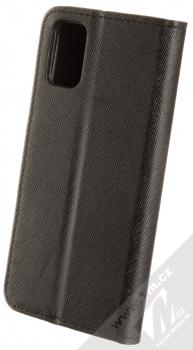 1Mcz Fancy Book flipové pouzdro pro Samsung Galaxy A41 černá (black) zezadu