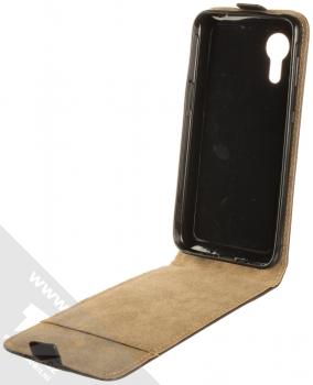 1Mcz Flexi Slim Flip flipové pouzdro pro Samsung Galaxy Xcover 5 černá (black) otevřené