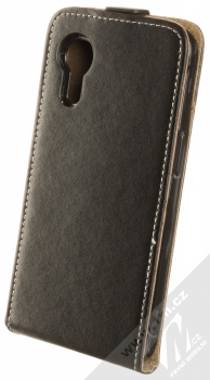 1Mcz Flexi Slim Flip flipové pouzdro pro Samsung Galaxy Xcover 5 černá (black) zezadu