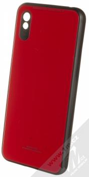 1Mcz Glass Cover ochranný kryt pro Xiaomi Redmi 9A červená (red)