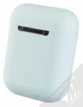 1Mcz i12 inPods Macaron TWS Bluetooth stereo sluchátka světle modrá (light blue) nabíjecí pouzdro zezadu