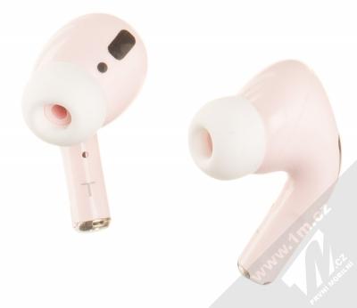 1Mcz i20 AirPro TWS Bluetooth stereo sluchátka světle růžová (light pink)