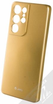 1Mcz Jelly TPU ochranný kryt pro Samsung Galaxy S21 Ultra zlatá (gold)