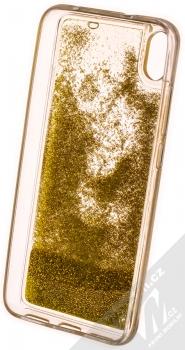 1Mcz Liquid Pearl ochranný kryt s přesýpacím efektem třpytek pro Xiaomi Redmi 7A zlatá (gold) zepředu