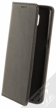 1Mcz Magnet Book Color Alternativní flipové pouzdro pro Xiaomi Redmi Note 9 Pro, Redmi Note 9 Pro Max, Redmi Note 9S černá (black)