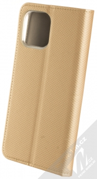 1Mcz Magnet Book flipové pouzdro pro Apple iPhone 12 Pro Max zlatá (gold) zezadu