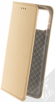 1Mcz Magnet Book flipové pouzdro pro Apple iPhone 12 Pro Max zlatá (gold)
