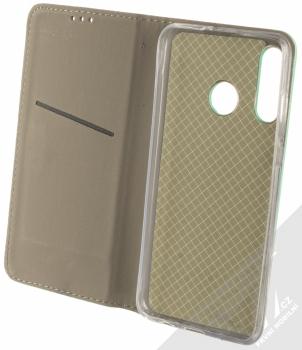 1Mcz Magnet Book flipové pouzdro pro Huawei P30 Lite mátově zelená (mint green) otevřené