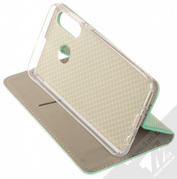 1Mcz Magnet Book flipové pouzdro pro Huawei P30 Lite mátově zelená (mint green) stojánek