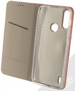 1Mcz Magnet Book flipové pouzdro pro Motorola Moto E7 Power červená (red) otevřené