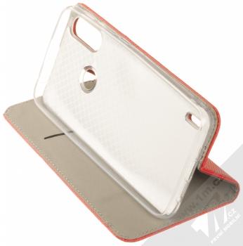 1Mcz Magnet Book flipové pouzdro pro Motorola Moto E7 Power červená (red) stojánek