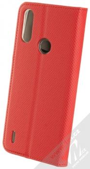 1Mcz Magnet Book flipové pouzdro pro Motorola Moto E7 Power červená (red) zezadu