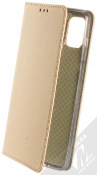 1Mcz Magnet Book flipové pouzdro pro Samsung Galaxy A21s zlatá (gold)