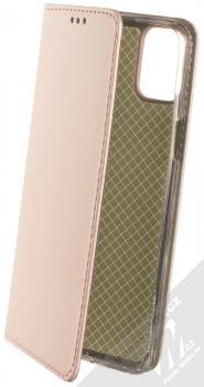 1Mcz Magnetic Book flipové pouzdro pro LG K42 růžově zlatá (rose gold)