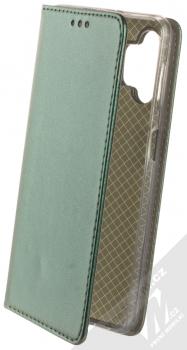 1Mcz Magnetic Book flipové pouzdro pro Samsung Galaxy A32 5G tmavě zelená (dark green)