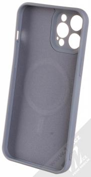 1Mcz MagSilicone TPU ochranný kryt s MagSafe pro Apple iPhone 12 Pro Max šedá (grey) zepředu