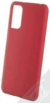 1Mcz Matt TPU ochranný silikonový kryt pro Xiaomi Redmi Note 10 5G, Poco M3 Pro tmavě červená (dark red)