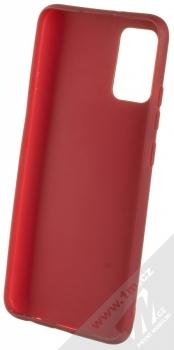 1Mcz Matt TPU ochranný kryt pro Samsung Galaxy A02s tmavě červená (dark red) zepředu