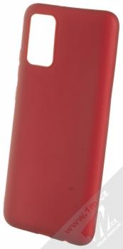 1Mcz Matt TPU ochranný kryt pro Samsung Galaxy A02s tmavě červená (dark red)